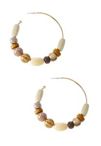 Tribal Bead Hoop Earrings