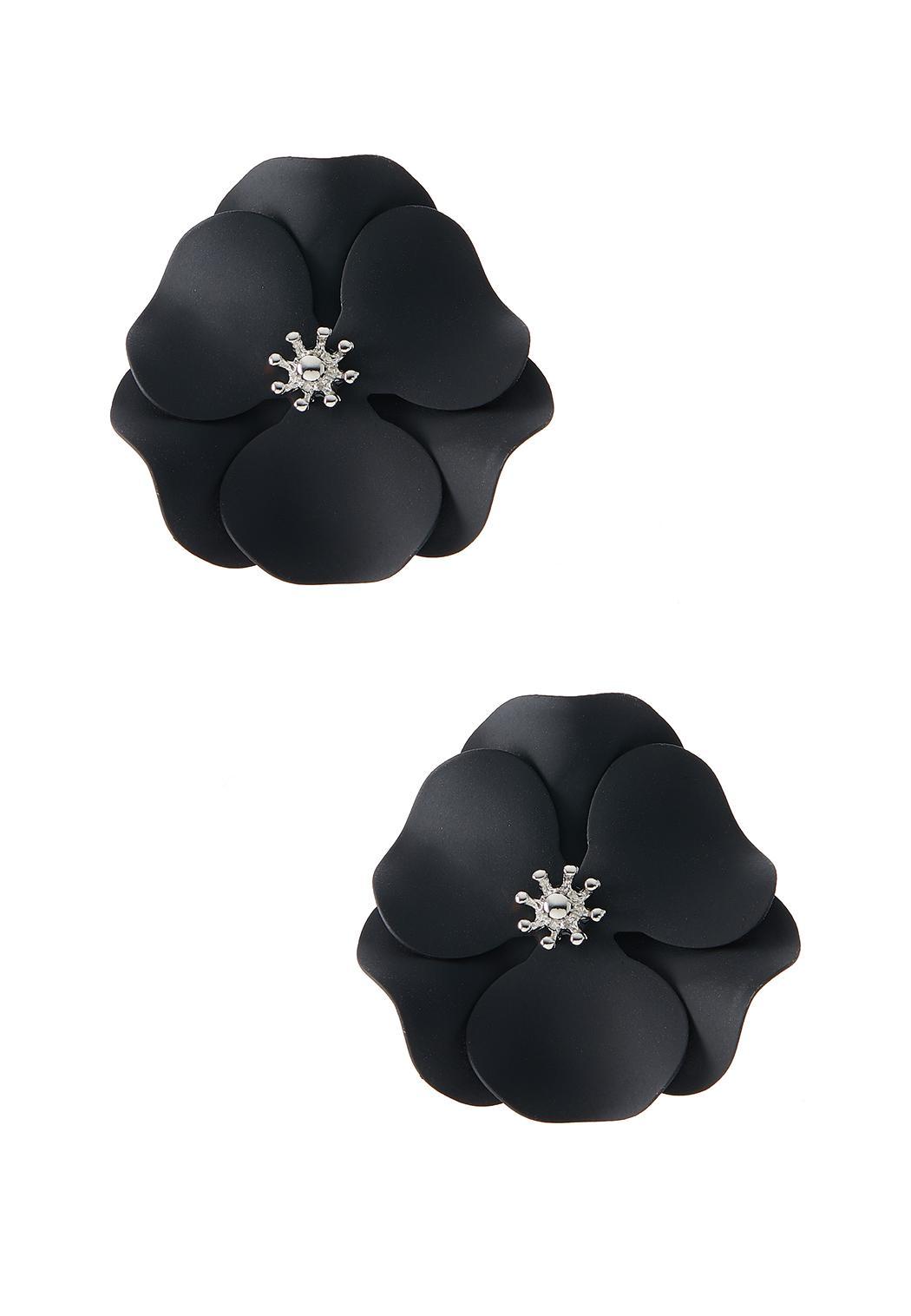 Enamel Flower Button Earrings
