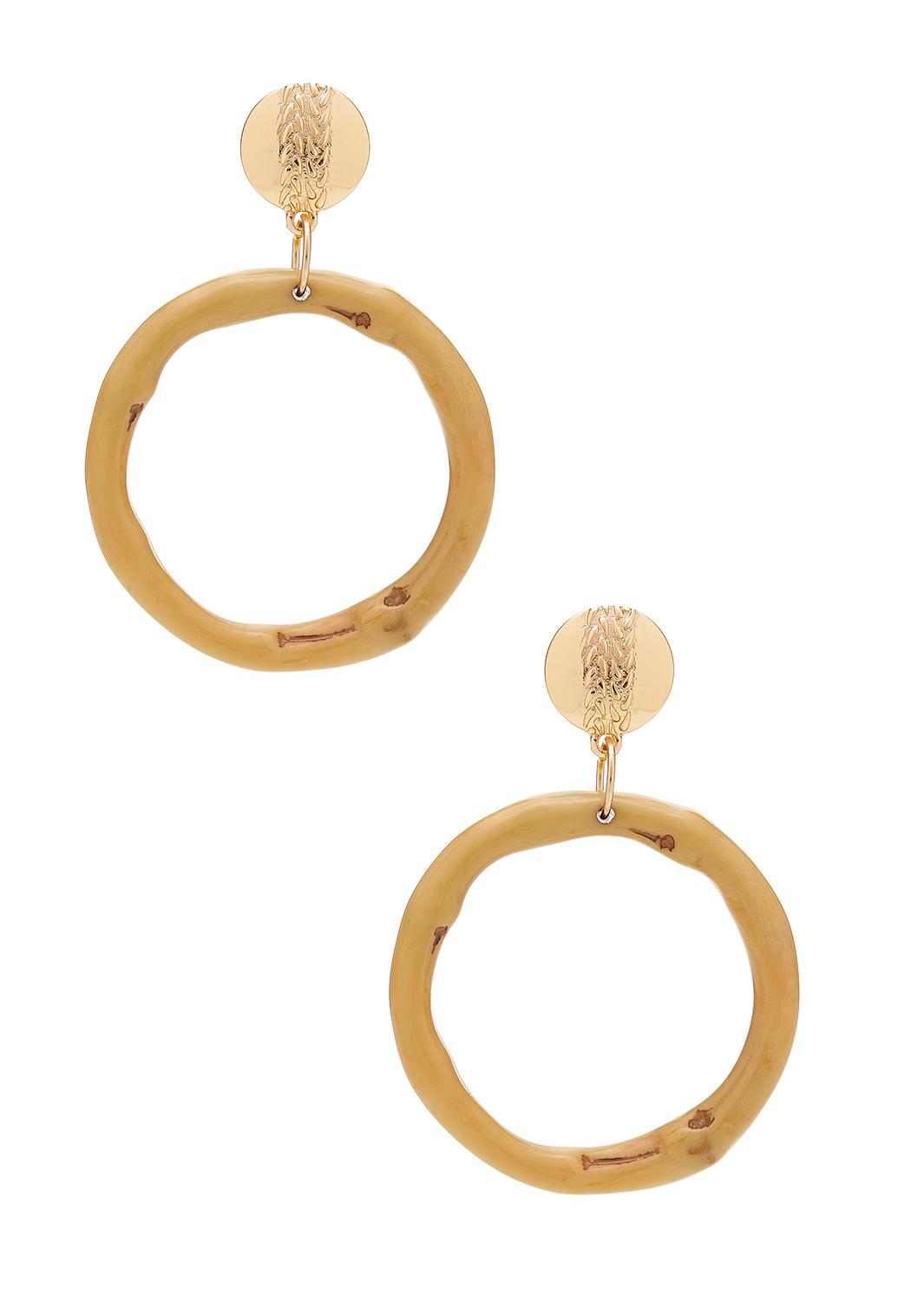Bamboo Ring Earrings