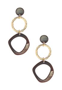 Resin Metal Ring Earrings
