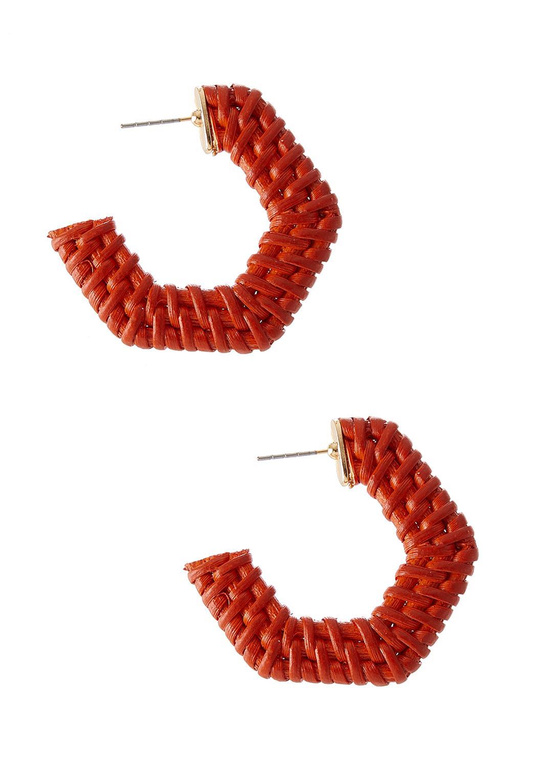 Raffia Hoop Earrings