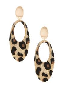 Faux Fur Animal Earrings