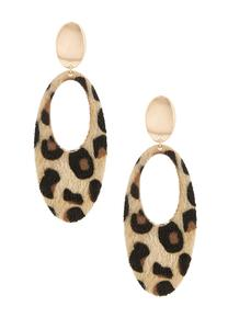 Faux Fur Animal Earrings
