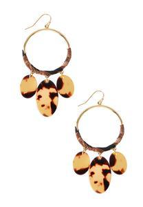 Tortoise Oval Lucite Earrings