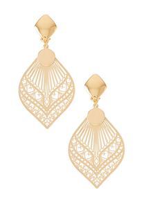 Moroccan Filigree Clip Earrings