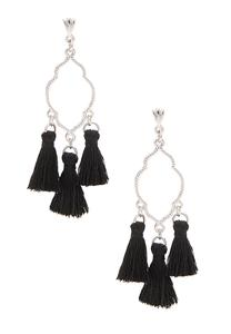 Moroccan Triple Tassel Earrings