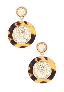 Tort Medallion Earrings