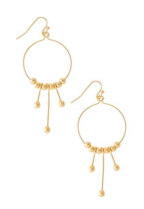 Abstract Gold Earrings