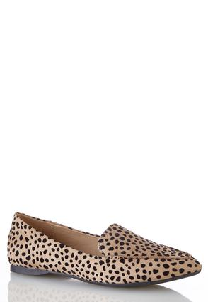 Wide Width Cheetah Pointy Toe Flats