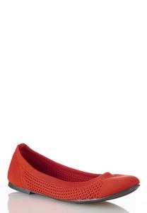 Stretch Knit Scrunch Flats