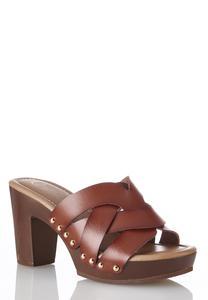 Woven Band Platform Sandals