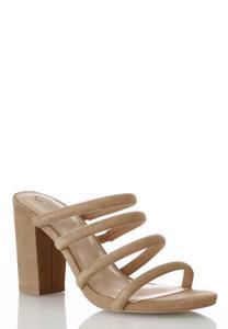 Tube Strap Heeled Sandals