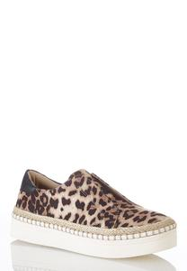 Leopard Flatform Sneakers