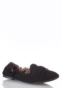 Tort Ring Suede Scrunch Flats