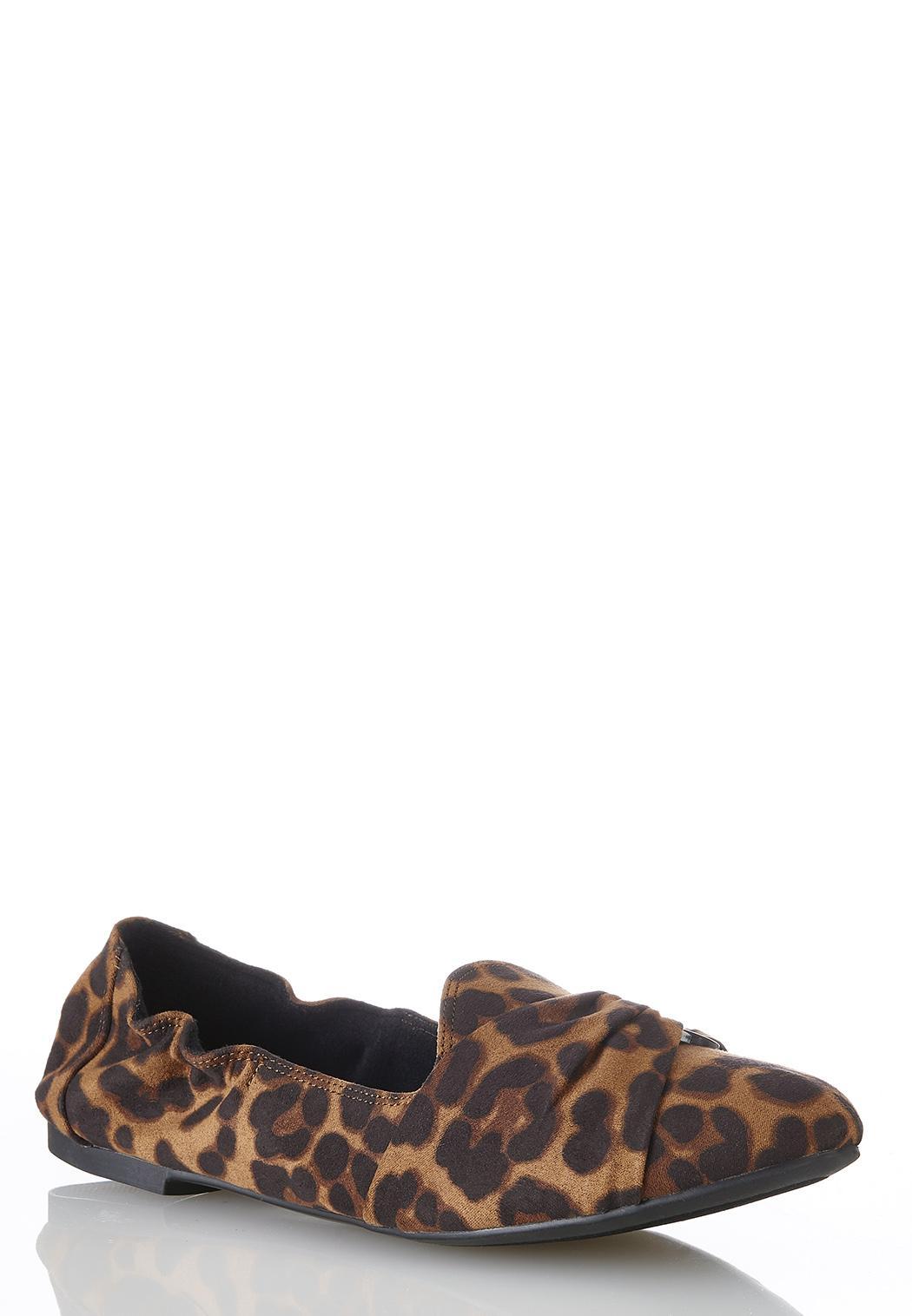 Tort Ring Leopard Scrunch Flats
