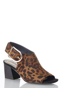 Slingback Leopard Booties