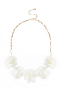 Pearl Chiffon Petal Necklace