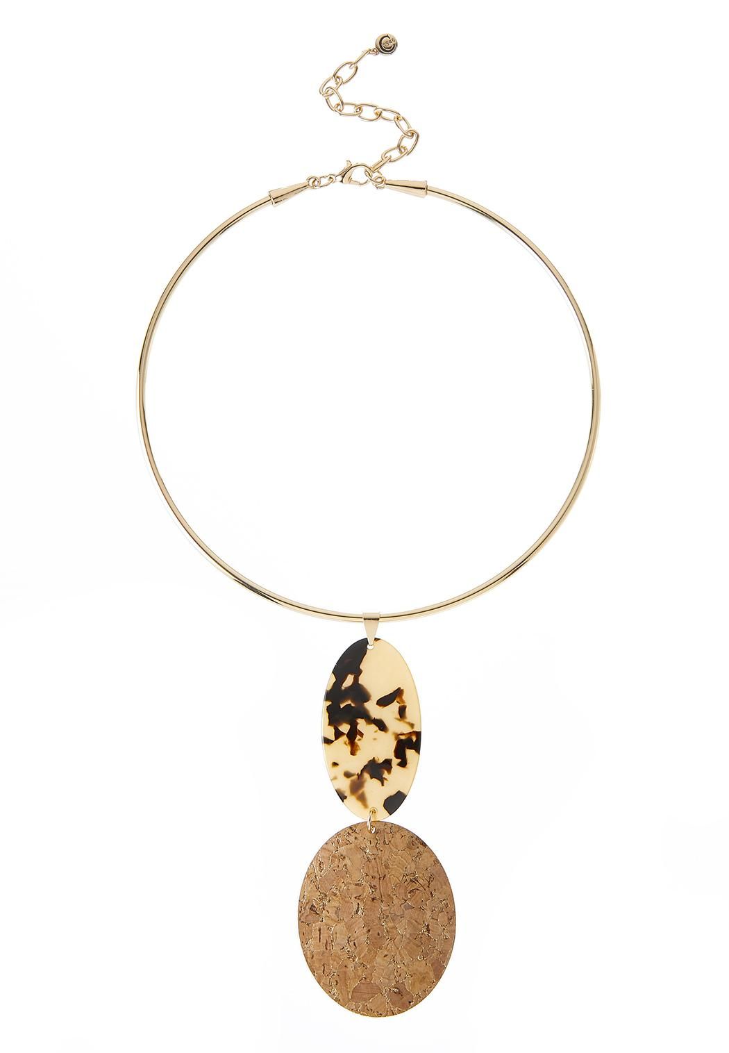 Lucite Cork Pendant Necklace