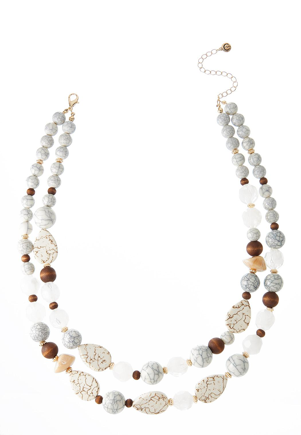 Layered Tribal Mixed Bead Necklace