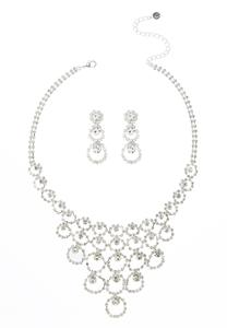 Dazzling Necklace Earring Set