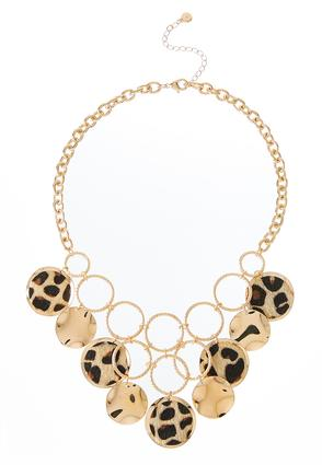 Textured Leopard Statement Necklace