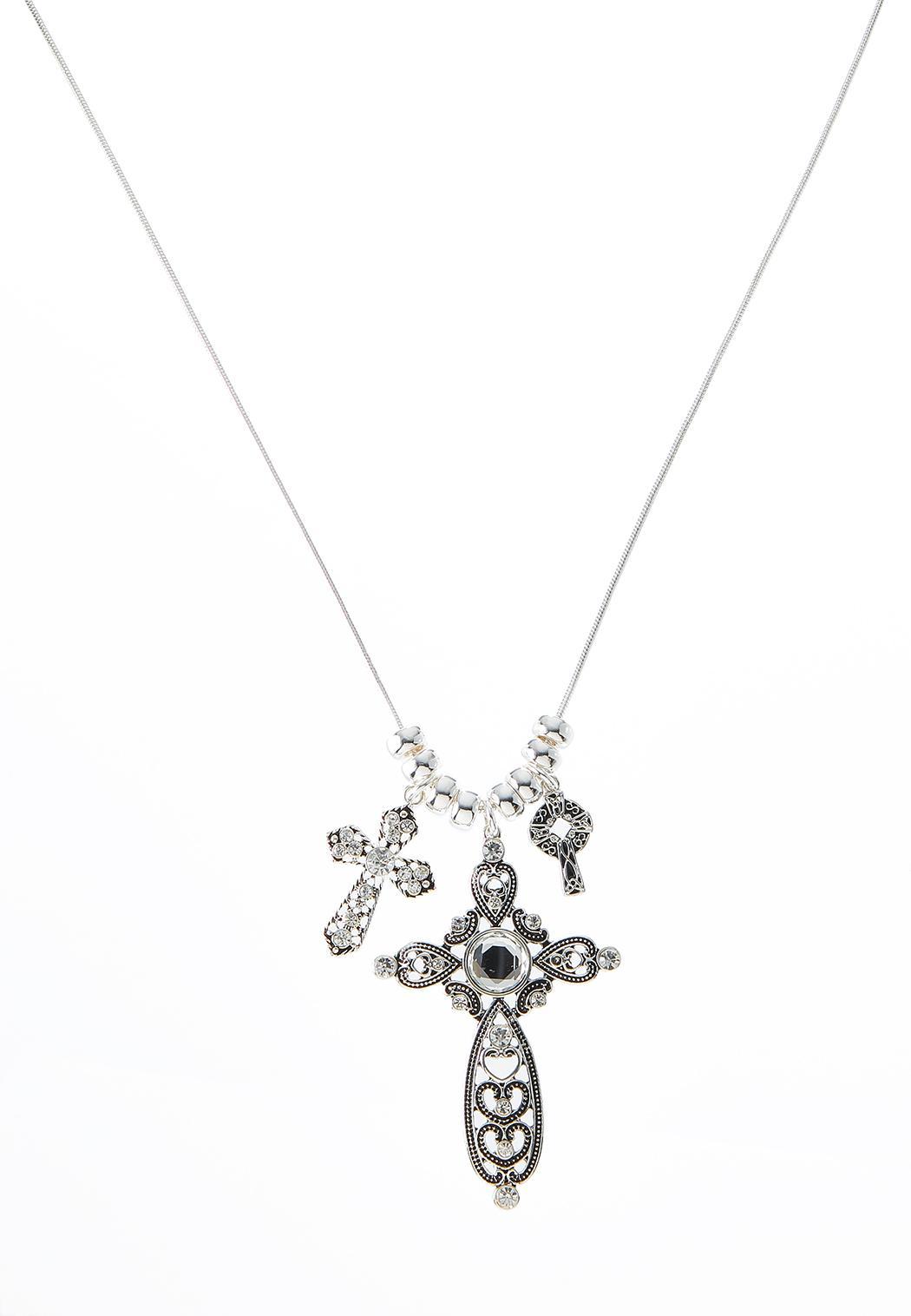 Filigree Cross Pendant Necklace