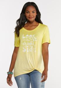 Plus Size On The Bright Side Tee