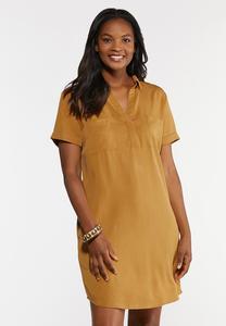 Plus Size Copper Shirt Dress