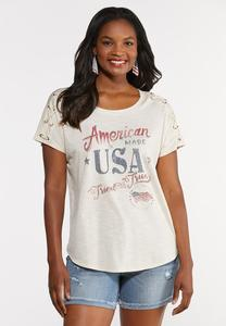 Plus Size American Made Graphic Tee