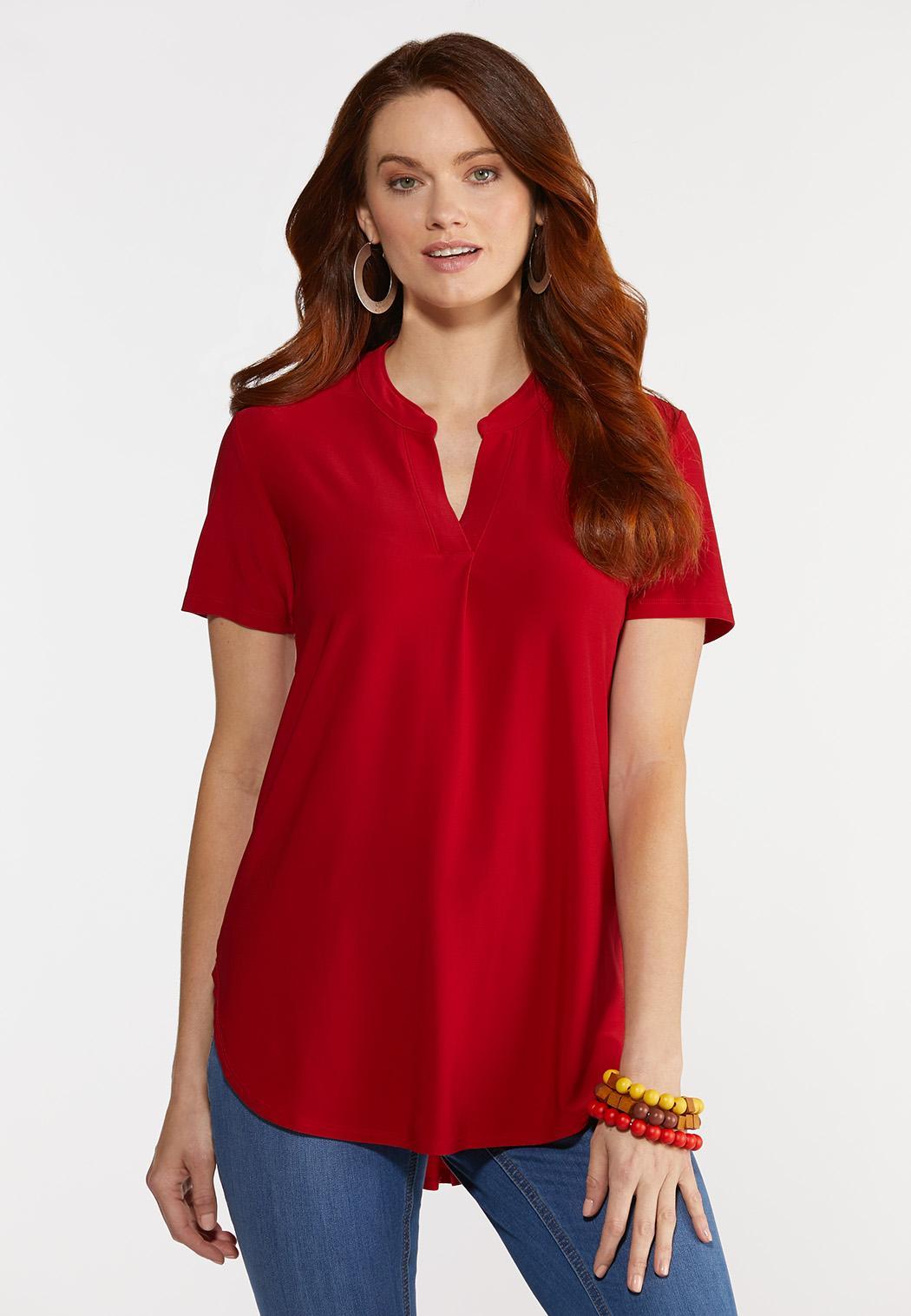 Dressy Knit Popover Top