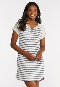 Plus Size Stripe French Terry Dress