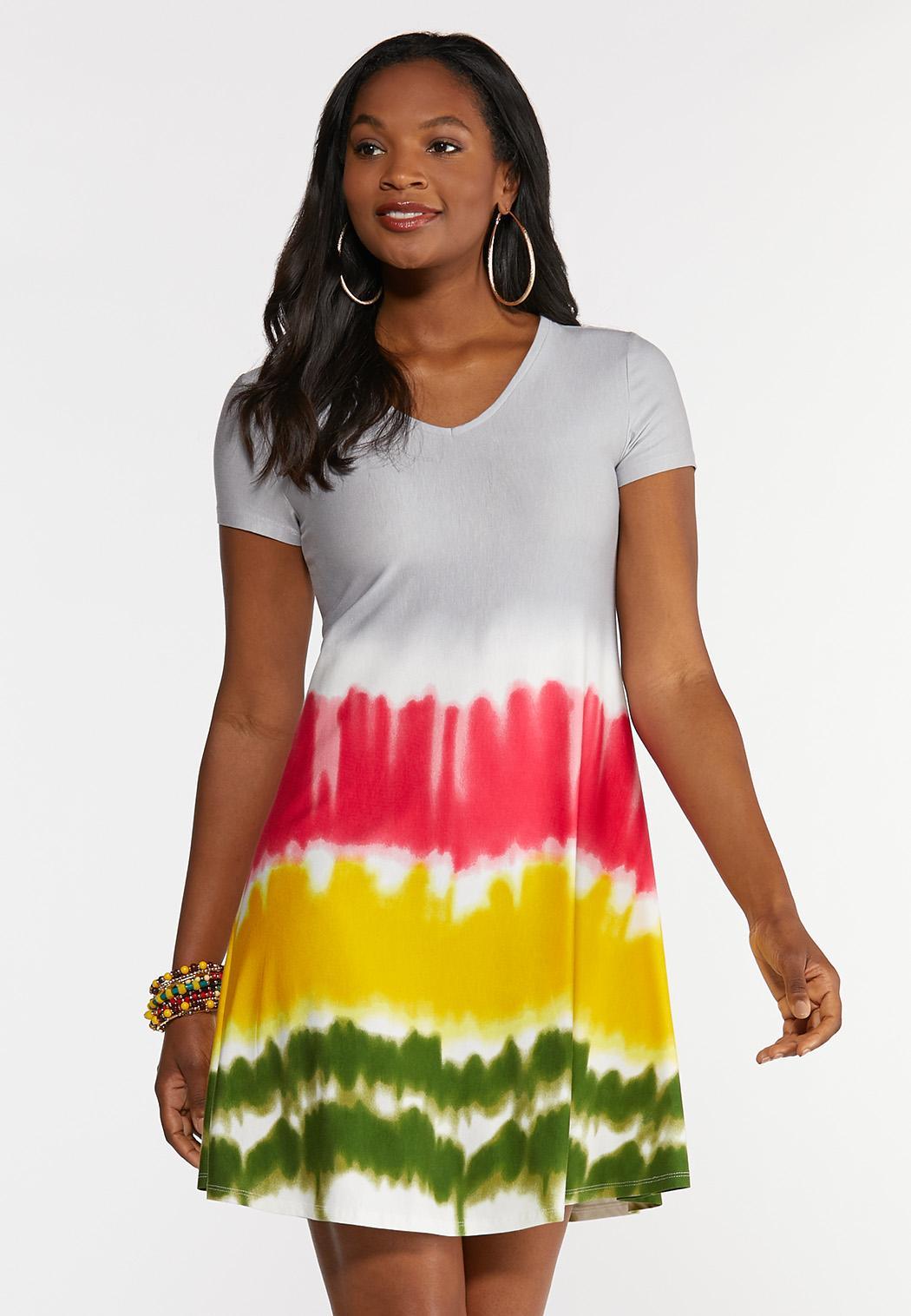 Tie Dye Strappy Swing Dress