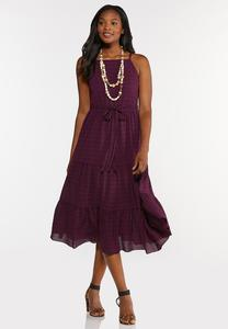 Plus Size Purple Smocked Dress
