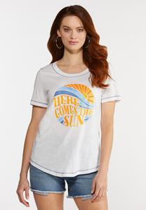 Plus Size Here Comes The Sun Tee