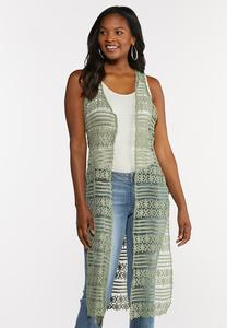 Long Crochet Vest