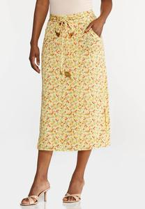 Plus Size Sunny Floral Skirt