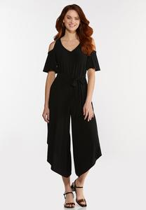 Plus Size Cold Shoulder Jumpsuit