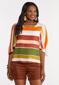 Brushed Stripe Top