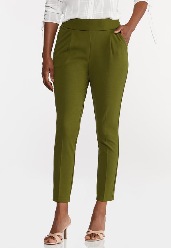 Button Tab Slim Pants