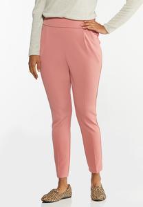 Dressy Knit Slim Leg Pants