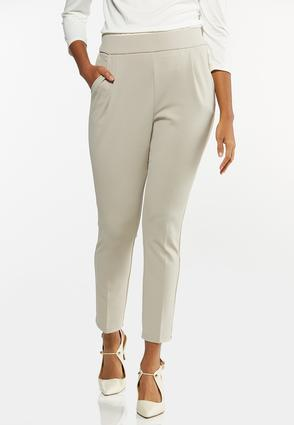 Dressy Knit Slim Leg Pants