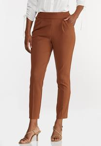 Petite Button Tab Slim Pants