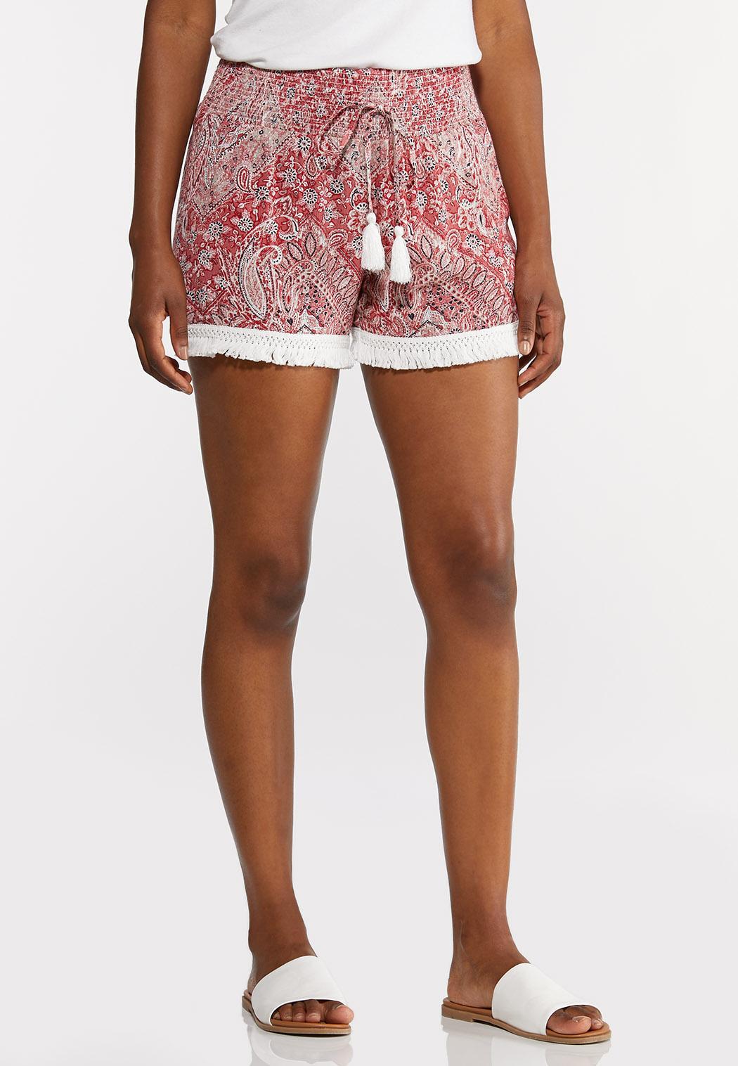 Paisley Fringe Shorts