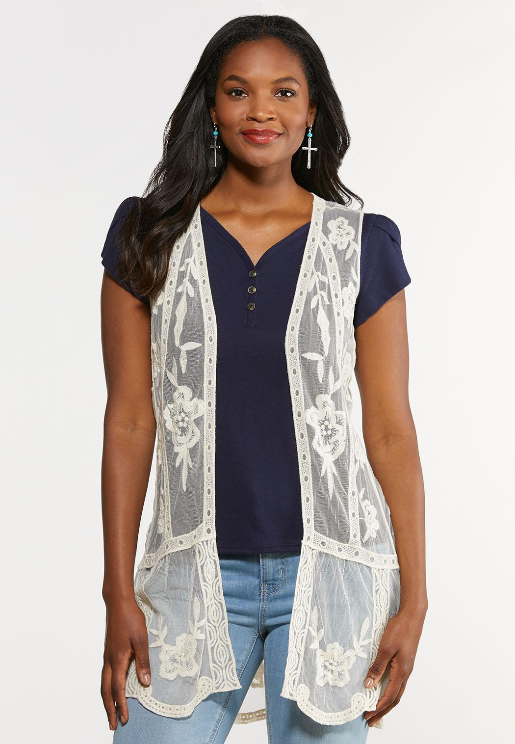 Mesh Embroidered Vest
