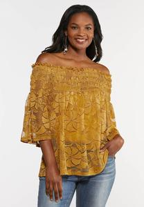 Smocked Lace Top