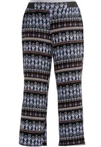 Elastic Tab Striped Aztec Palazzo Pants-Plus