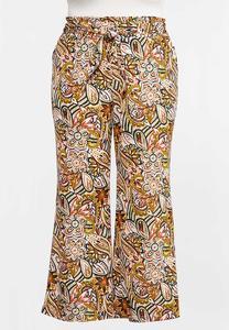 Plus Size Island Paisley Pants