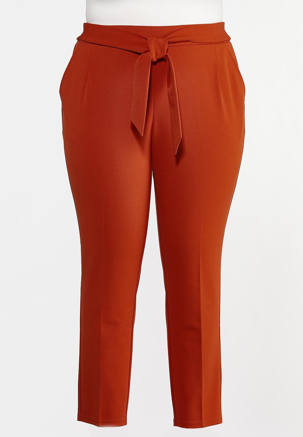 Plus Petite Slim Tie Waist Pants