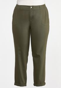 Plus Size Utility Chino Pants