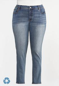 Plus Size Curvy Shape Enhancing Skinny Jeans